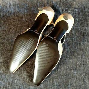 Nine West Shoes - Nine West Beige Pointed Toe Pump
